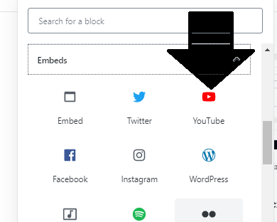 WordPress YouTube Block