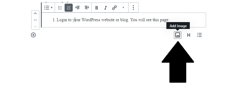 Add Image icon in WordPress Gutenberg Blocks